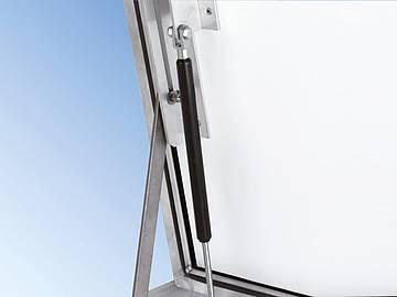 CCA-GD comp. comfort Alu with hinge and gas-strut... - with hinge and gas-strut lift, sealed