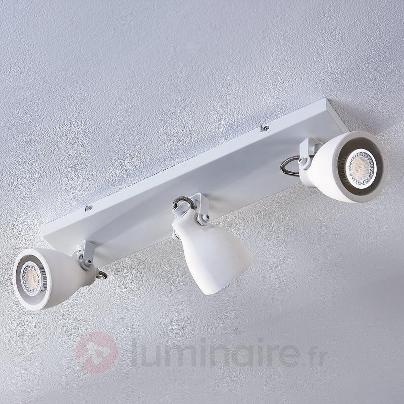 Spot de plafond LED blanc Kadiga, à 3 lampes - Spots et projecteurs LED