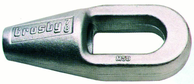 Accessoires câbles - Douille/socket/poire conique à anse rainurée G-417