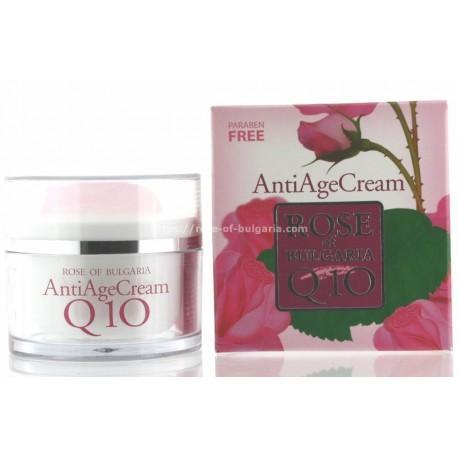 Crème anti age Q10 à l'eau de rose - Soin visage pour Femme