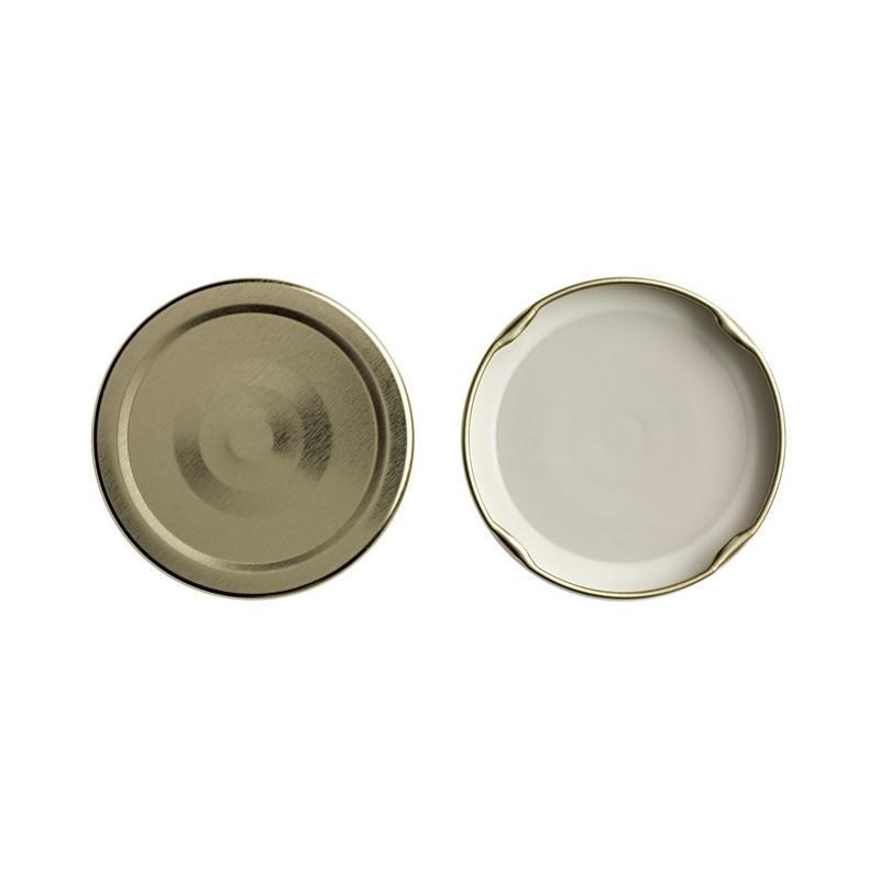 100 Capsules TO 89 mm Or stérilisables avec Flip - DORÉ