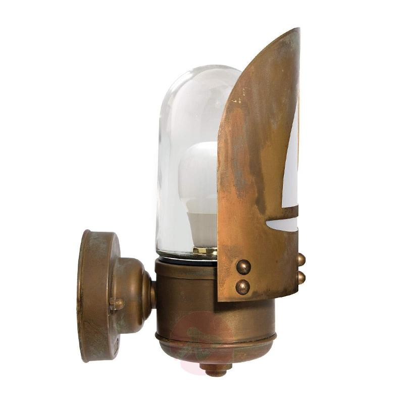 Seawater-res. outdoor wall light Cara with boat - Outdoor Wall Lights