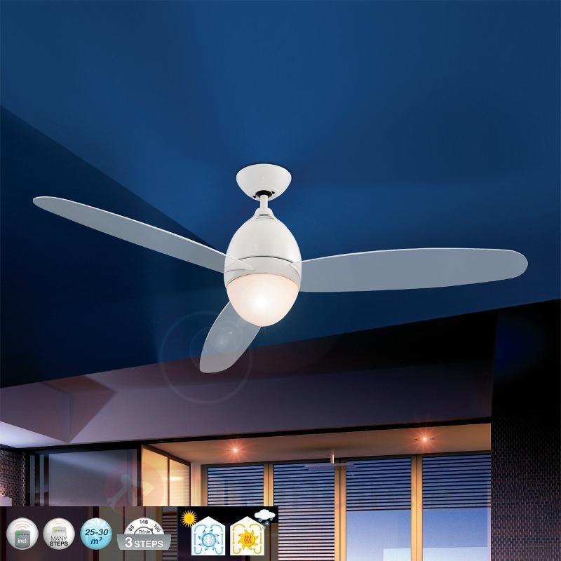 Ventilateur de plafond Premier blanc 132 cm - Ventilateurs de plafond modernes