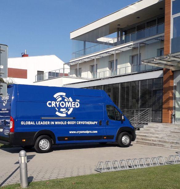 Cryobus, mobile cryotherapy chamber - Cryobus is a mobile cryotherapy chamber recently created by Cryomed.