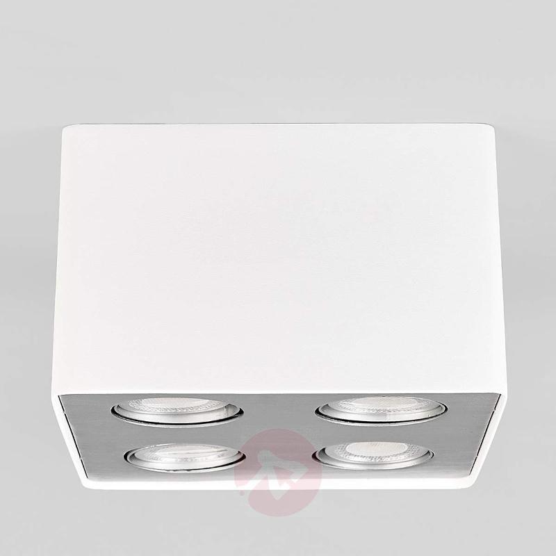 Giliano LED kitchen ceiling light in white, 4-fl. - Ceiling Lights