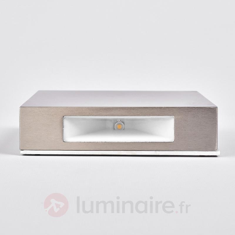 Applique d'extérieur carrée LED Simona en inox - Appliques d'extérieur LED