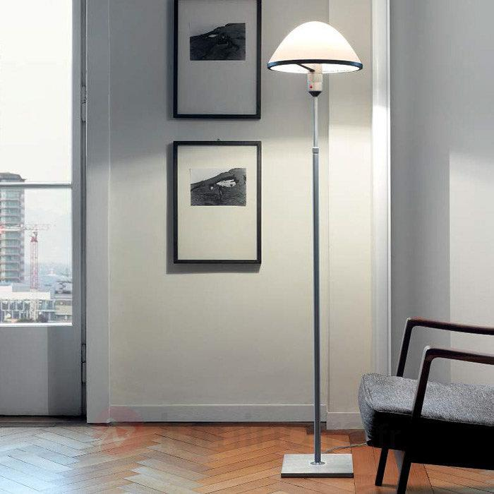 Miranda - Lampadaire avec abat-jour en verre - Lampadaires design