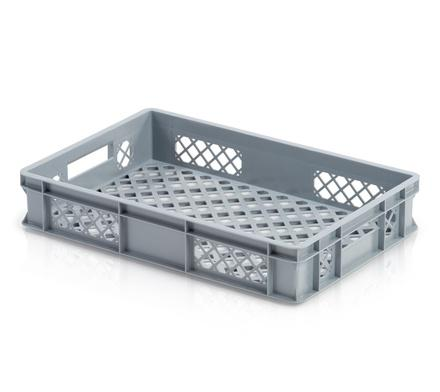 Euro containers perforated - Euro container perforated 60 x 40 x 11 cm