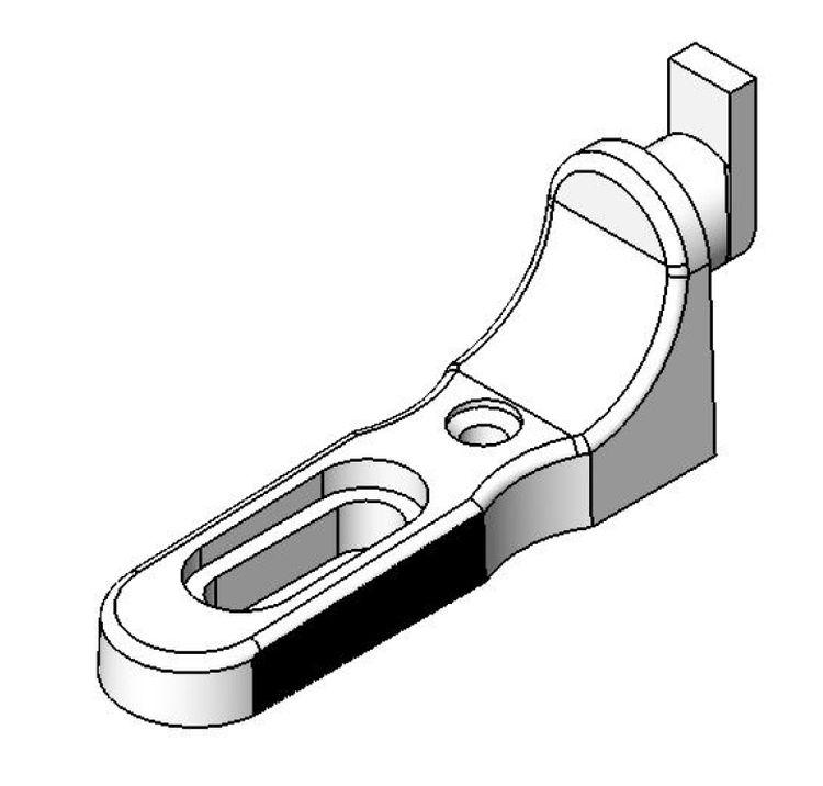 Rückwandhalter Langloch - Kunststoff - braun - Rückwandhalter