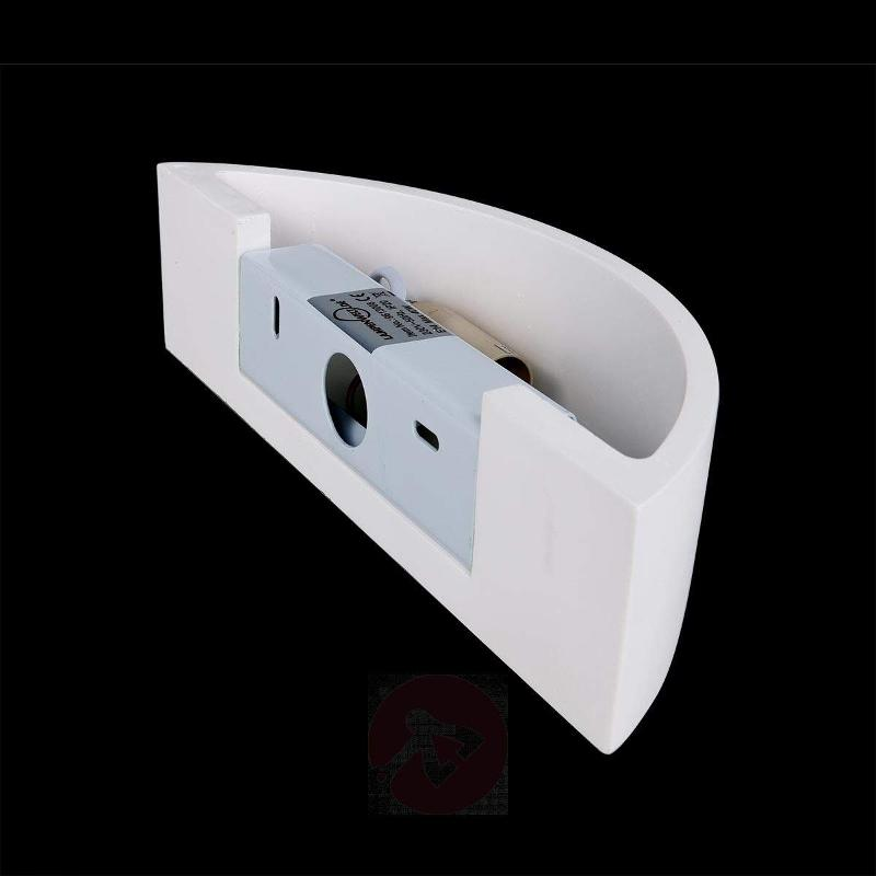 Konstantin Wall Light Curved Plaster White - Wall Lights