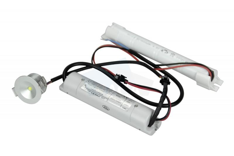 Taurac downlight, 3W, - Emergency lighting downlight