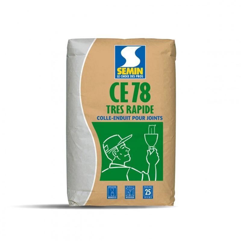 CE 78 1/2 H - Enduit pour joints de plaques de plâtre temps de prise 1/2 heure