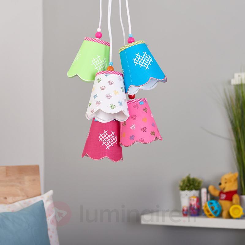 Suspension Girly à plusieurs lampes - Chambre d'enfant