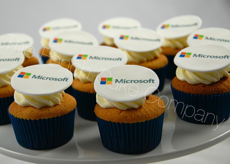 Gâteaux et Pièces Montées sur-mesure - Cupcakes Logo Microsoft