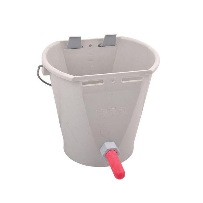 8L  Plastic Calf /cattle/horse Feeding teat Bucket - animal feeding bucket for cow with teat milk bucket