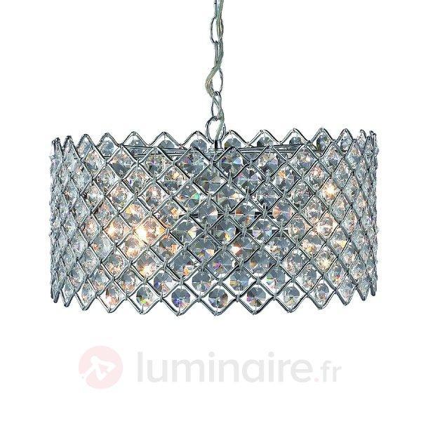 Suspension scintillante Lindo chromée - Suspensions en cristal