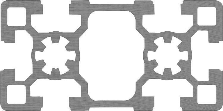 Profilés aluminium 45x90 Type B - Profilés aluminium