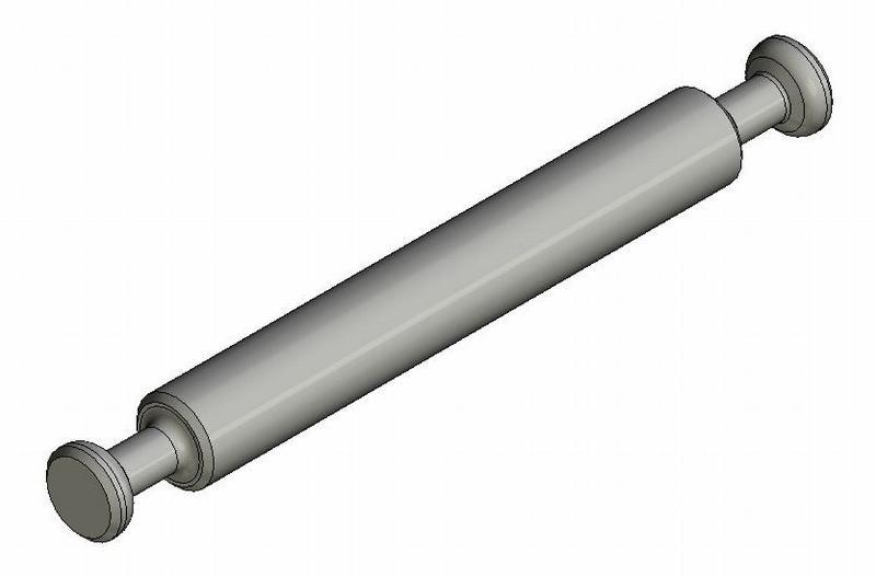Mittelwandbolzen - Stahl gedreht - o. Ring - blank - Bolzen (Exzenter)