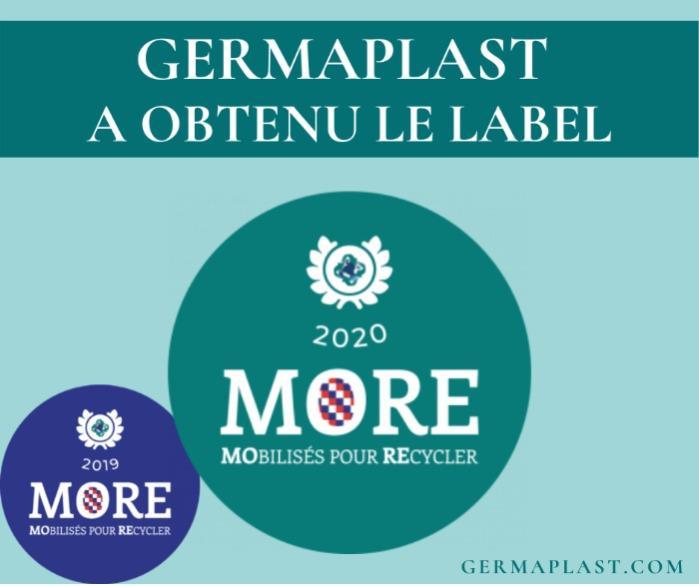 Label MORE 2020 - Germaplast s'est vu remettre le Label MORE 2020