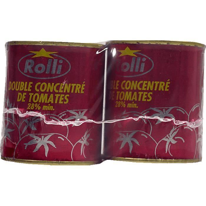 Tomate concentré 2x140g - ROLLI -