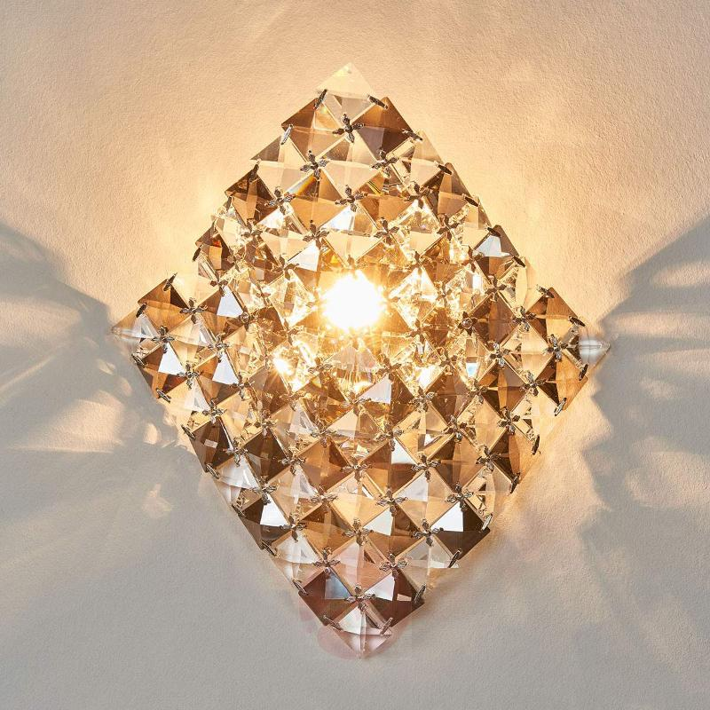 Unique wall light Satén made of crystals, 25 cm - Wall Lights