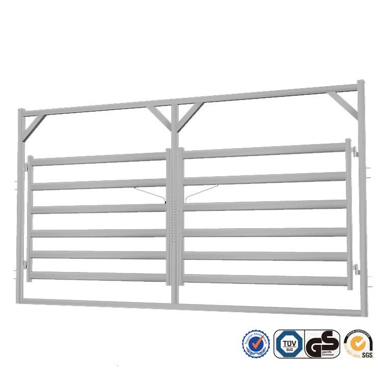 Cattle Rail Double Gate in Frame - horse/cattle/sheep fence panel/gate