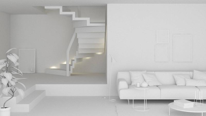 Stairs in Corian - Faltwerk stairs Corian
