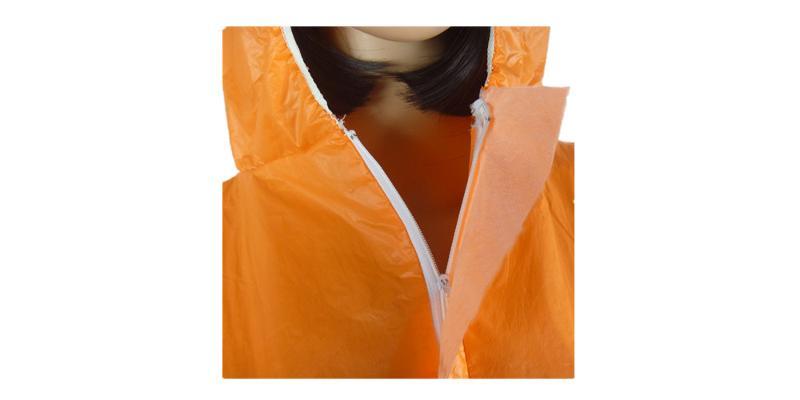 Orange Microporous Coverall -