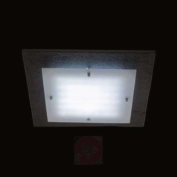 LED ceiling light Shine Modular, limestone panel - Outdoor Ceiling Lights