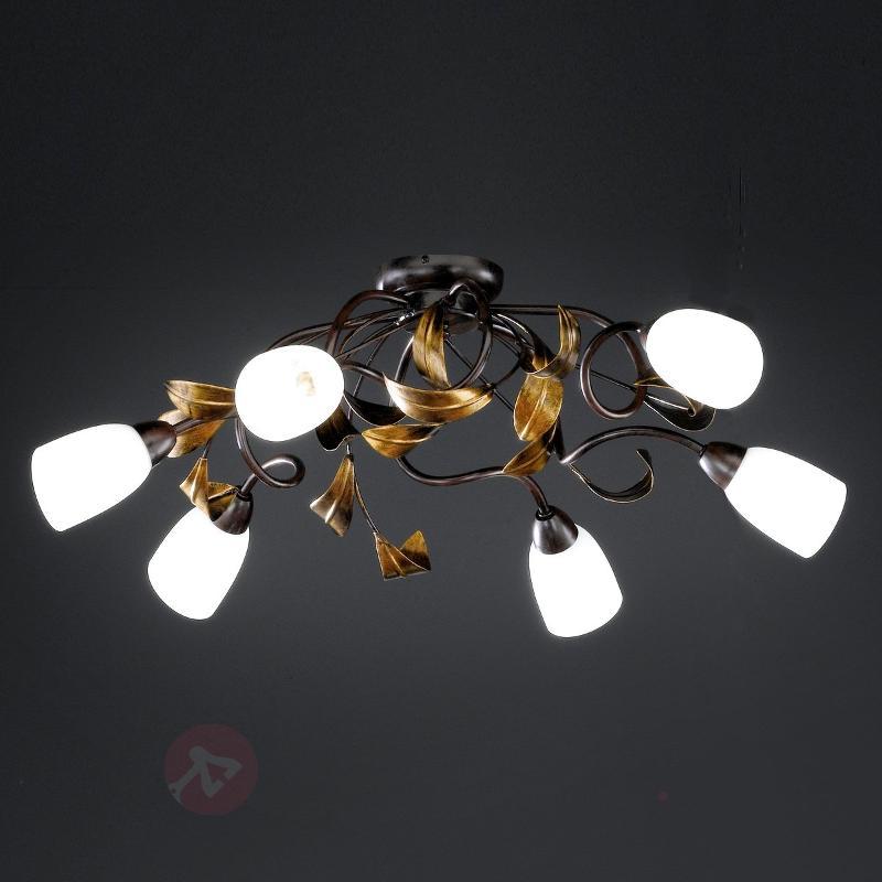 Plafonnier torsades Supra 6 lampes - Plafonniers rustiques