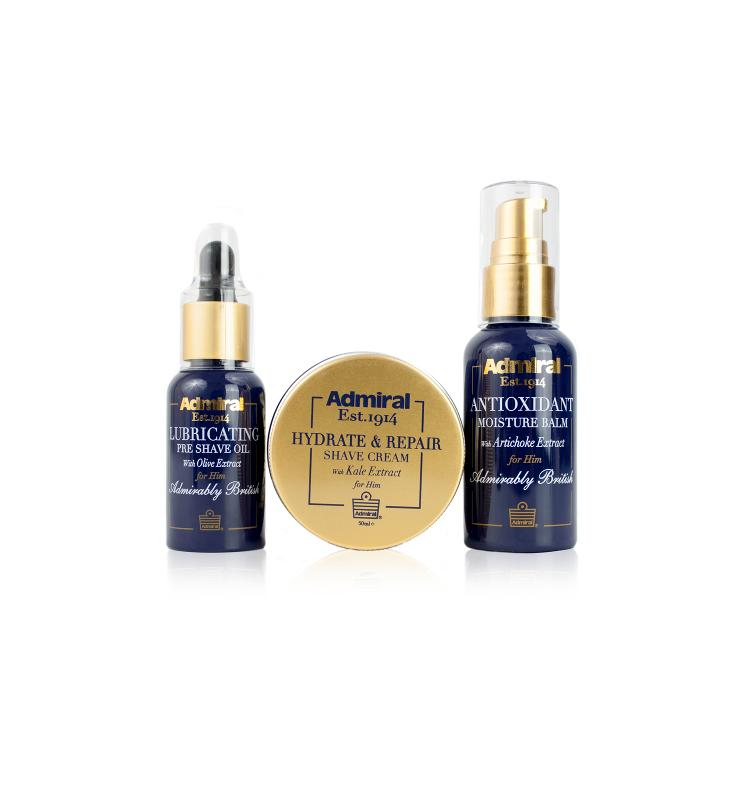 Clean Shave Set: Pre Shave Oil, Shaving Cream, Moisture Balm