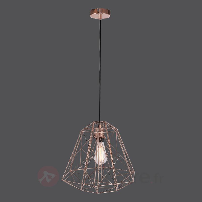 Skeletton - suspension en cuivre brillant - Cuisine et salle à manger