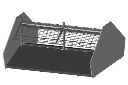 Modular shop rack systems & instore interior shelving design - Fruit and vegetables