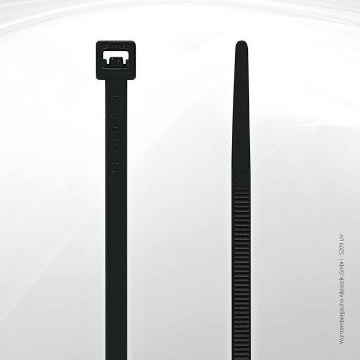 UV resistant cable ties Allplastik-Kabelbinder® - 5209 UV (black)