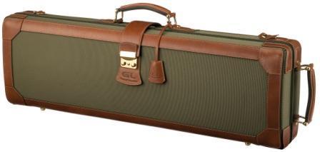 Leather violin case_K17(V) - Leather violin case/ Denim and leather exterior/ Brwon