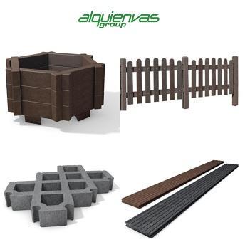 Productos de plástico reciclado - mobiliario urbano