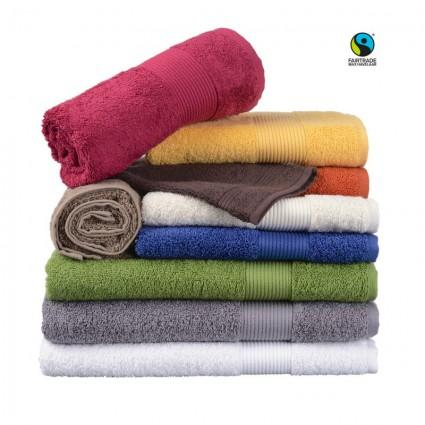 Linge de bain : serviettes et peignoirs - Linge éponge blanc et couleurs Ethic Max Havelaar 450g au colisage