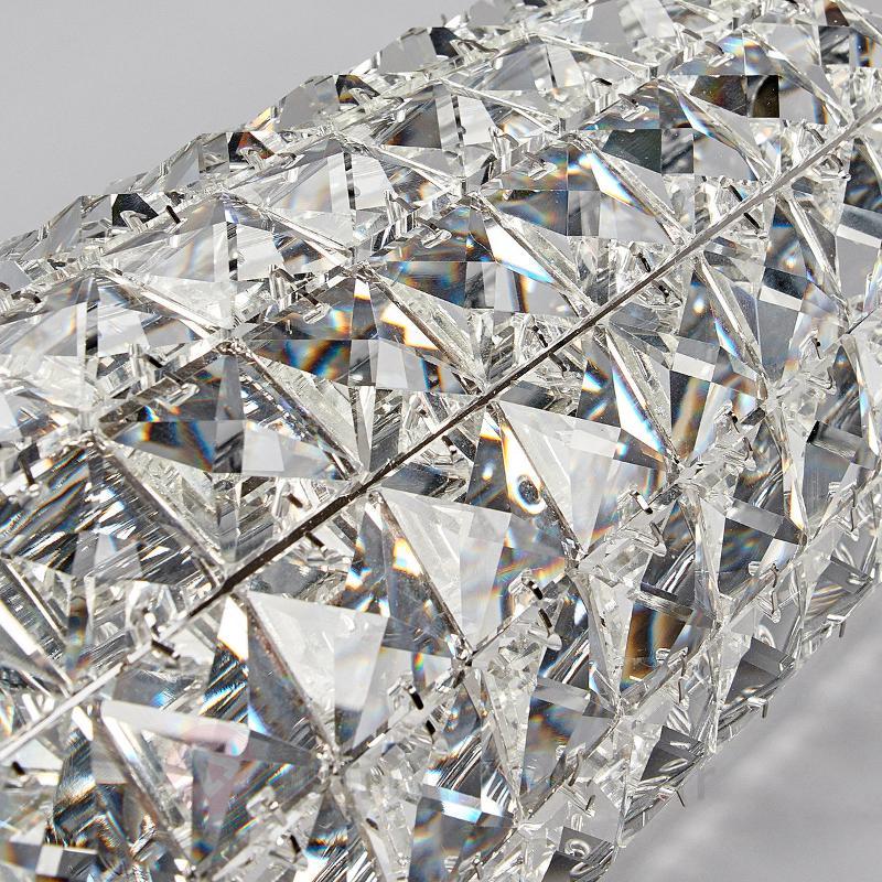 Applique en cristal étincelante Kylian - Appliques chromées/nickel/inox