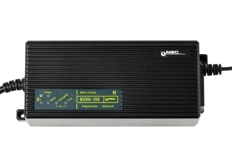 MEC JOE-100 IP68 Waterproof Charger - Waterproof Battery Chargers for Lithium-/ Lead-based Batteries