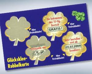 Rubbelkarten - Gimmicks