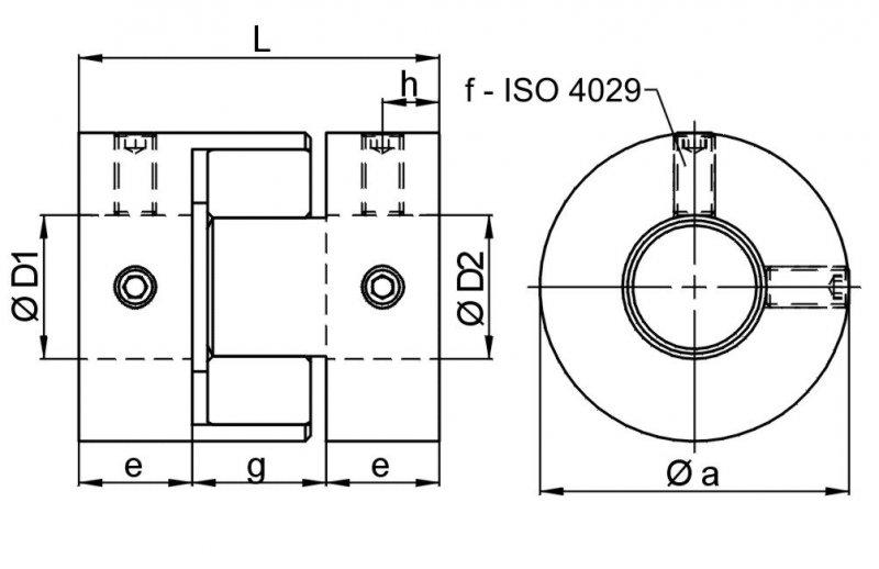 Miniature elastomer coupling MJT - Miniature elastomer coupling MJT / low-cost version with set-screw