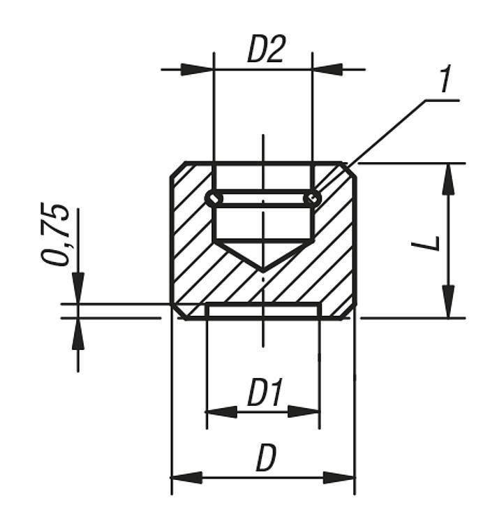 Patin - Vis dynamométriques et inserts taraudés
