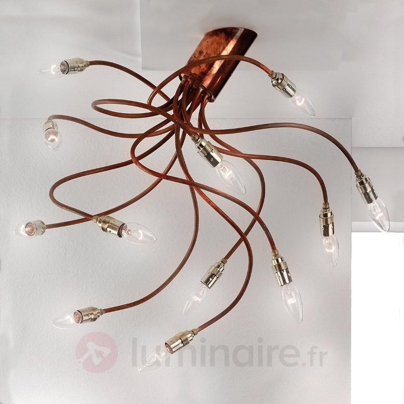 Plafonnier en cuivre BRAZONA à bras flexibles - Cuisine et salle à manger