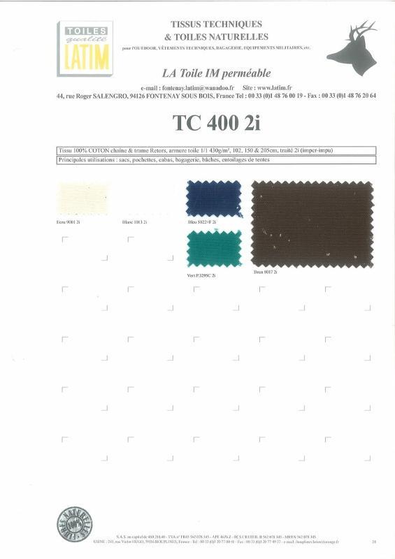 TC 400 2i - Toiles naturelles