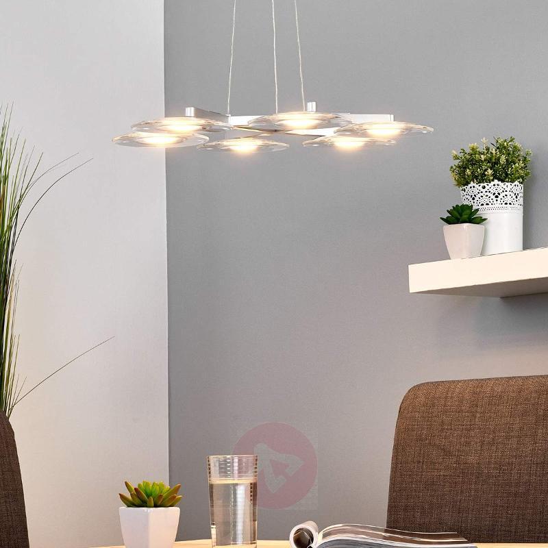 Vaga LED Hanging Light Six Bulbs - Pendant Lighting