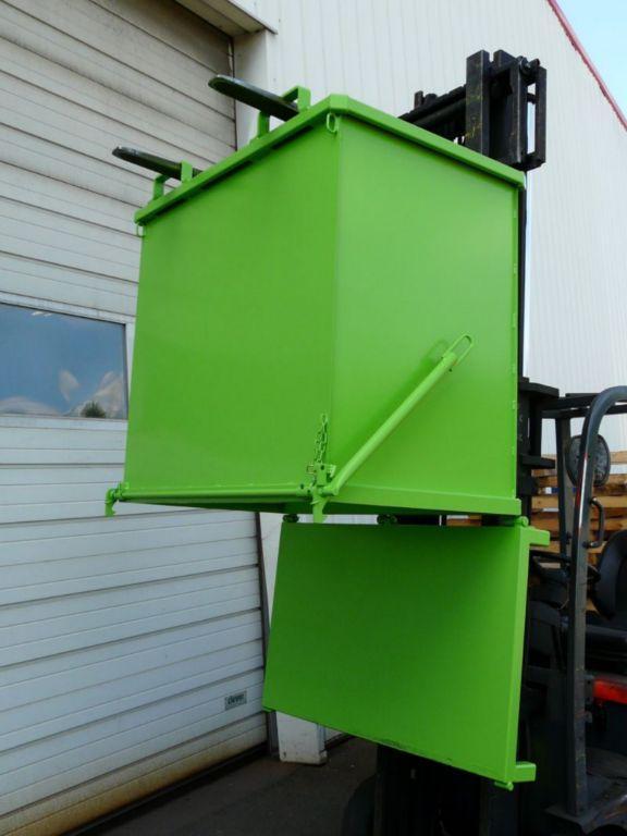 Benne à fond ouvrant éco – charge admissible 1000 kg - Bennes de manutention