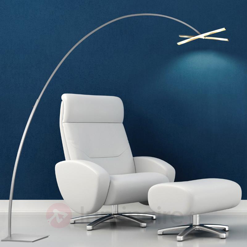 Arco - lampadaire LED arqué avec variateur tactile - Lampadaires arqués