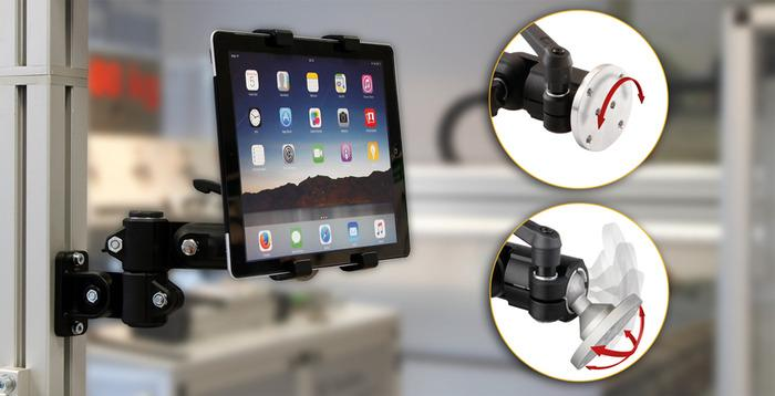 Tablet tutucu (iPAD, tablet PC, ekranlar) - RK monitör askı aparatı için