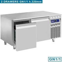 REFRIGERATED BASE / DRAWER GN 1/1 - GAMME OPTIMA 700