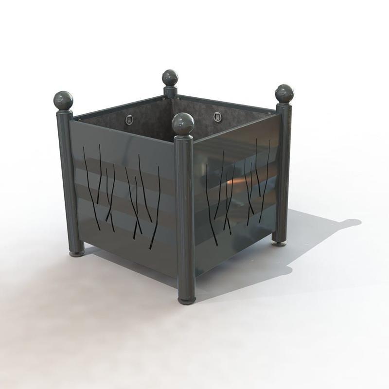 Jardinière de ville Arcachon - Tête boule peint & métal - Mobilier urbain